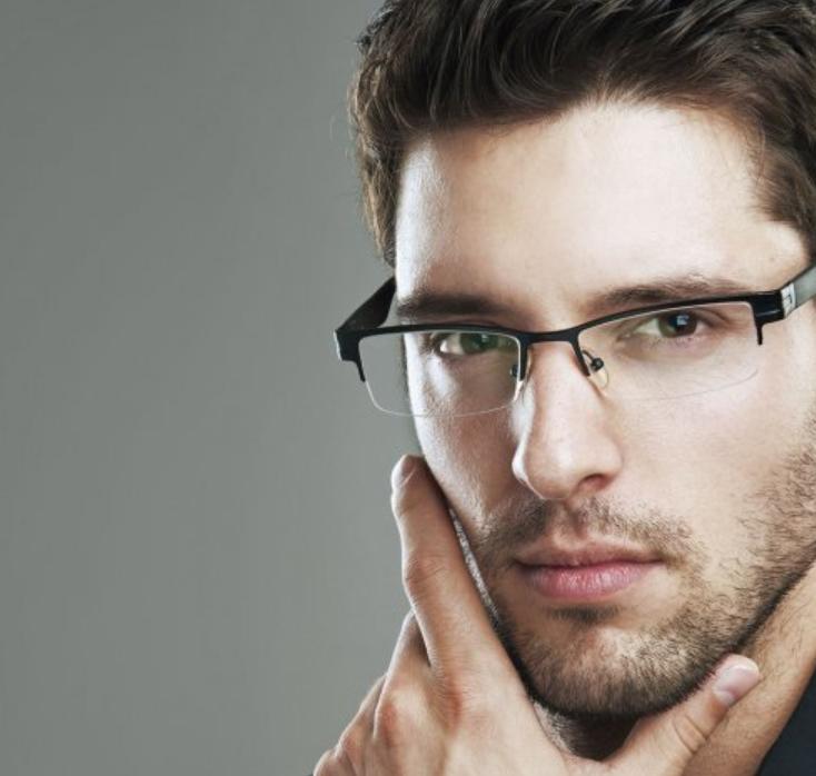 kacamata untuk wajah segitiga